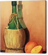 Wine And Oranges Canvas Print