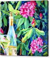 Wine And Rhodies Canvas Print