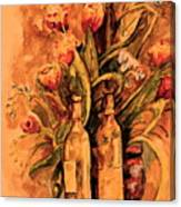 Wine And Tulips Canvas Print