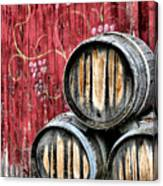 Wine Barrels Canvas Print