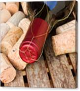 Wine Bottle And Corks Canvas Print