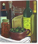 Wine Bottles And Jars Canvas Print