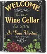 Wine Cellar Sign 1 Canvas Print