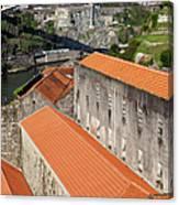 Wine Cellars In Vila Nova De Gaia By The Douro River Canvas Print