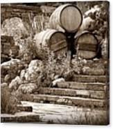 Wine Country Sepia Vignette Canvas Print