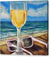 Wine Ding Down Canvas Print