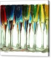Wine Flutes Canvas Print