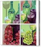 Wine From Grapes Collage Canvas Print