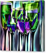 Wine Glasses With Colorful Drinks  Canvas Print