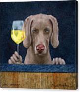 Wine-maraner Canvas Print