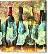 Wine On The Town Canvas Print