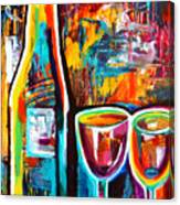 Wine Lovers Abstract Canvas Print