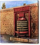 Wine Press Near Narbonne France Dsc01630 Canvas Print