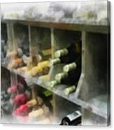 Wine Rack Mixed Media 01 Canvas Print