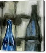 Wine Rack Shadows Canvas Print