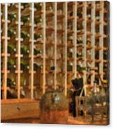 Wine Rack Vineyard Fermentation   Canvas Print