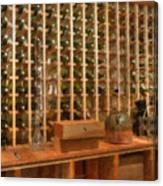 Wine Rack Vineyard Fermentation Canvas Print