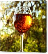 Wine Reflections Square Canvas Print