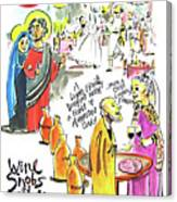 Wine Snobs In Cana - Mmwsc Canvas Print