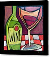 Wine Squared Canvas Print