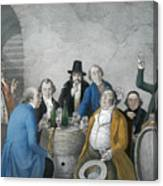 Wine Tasters In A Cellar Canvas Print