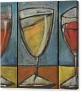 Wine Trio - Option One Canvas Print