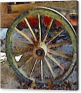 Wine Wagon Wheel Canvas Print