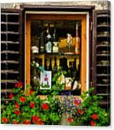 Wine Window Canvas Print