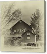Winery In Sepia Canvas Print