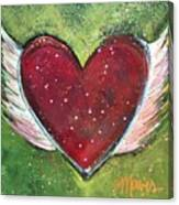 Winged Heart Number 1 Canvas Print