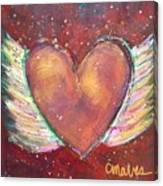 Winged Heart Number 2 Canvas Print