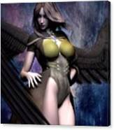 Winged Warrior Girl 2 Canvas Print