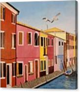 Wingin It In Venice Canvas Print