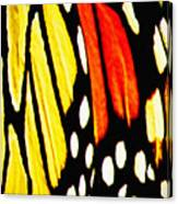 Wings Of A Monarch Butterfly Abstract Canvas Print