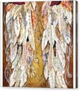 Wings Of Love Sienna Canvas Print