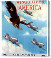 Wings Over America - Air Corps U.s. Army Canvas Print