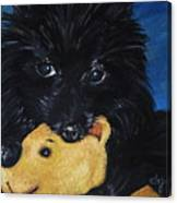 Winnie And Pooh Canvas Print