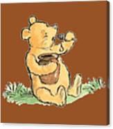 Winnie The Pooh T-shirt Canvas Print