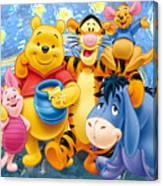 Winnie the Pooh Starry Night  Canvas Print