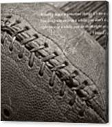 Winning Quote From Vince Lombardi Canvas Print