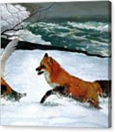 Winslow Homer's, 1893 ' The Fox Hunt ', Revisited 2016 Canvas Print