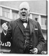 Winston Churchill Campaigning - 1945 Canvas Print