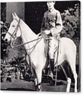 Winston Churchill On Horseback In Bangalore, India In 1897 Canvas Print
