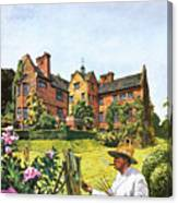 Winston Churchill Painting At Chartwell Canvas Print
