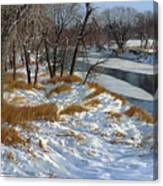 Winter Along The Little Sioux Canvas Print