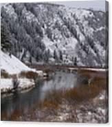 Winter Along The Salt Canvas Print