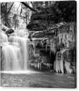 Winter At Big Falls  Canvas Print