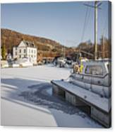 Winter At Bowling Harbour Canvas Print