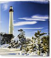 Winter At Cape May Light Canvas Print