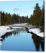 Winter At Hickey Creek Canvas Print